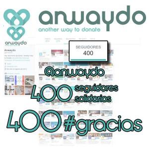 400 seguidores solidarios Twitter